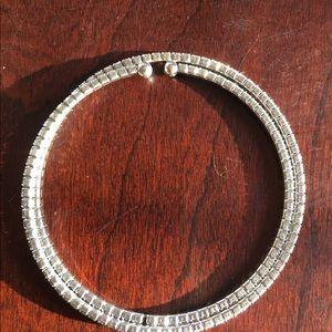 Silver diamond bracelet-stretchy-like new!